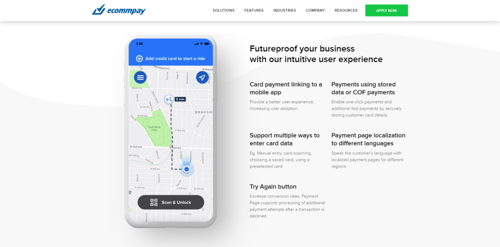 ECOMMPAY payment service for the mobility industry
